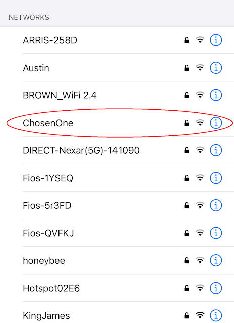 Network Name: Chosen One