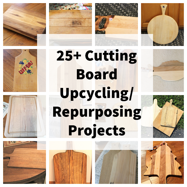 Photo collage of old cutting boards