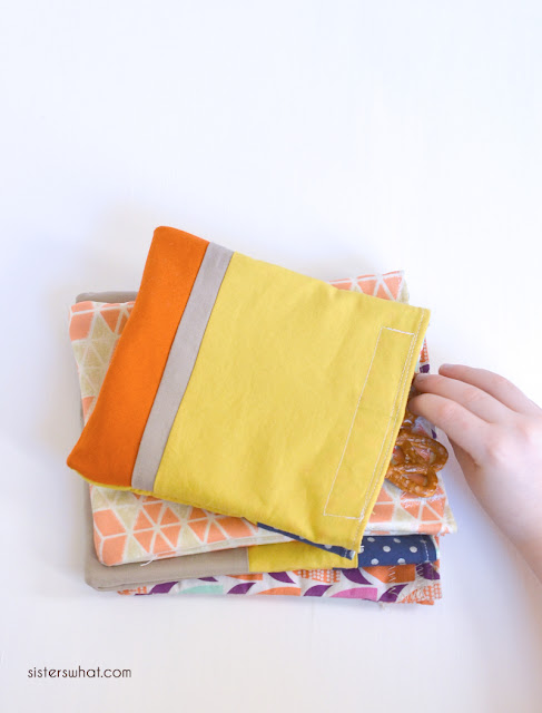 how to sew snack bags tutorial