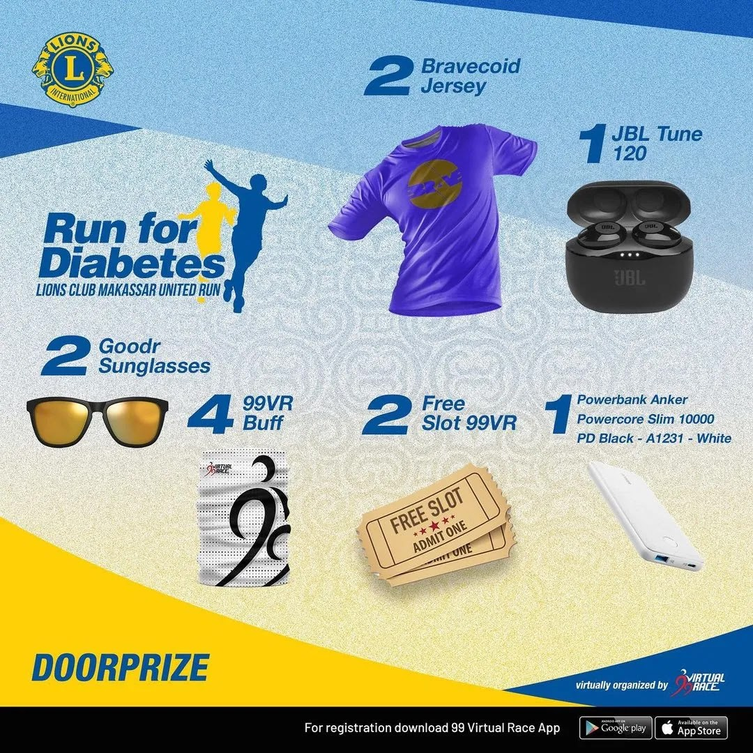 Doorprize � Run for Diabetes • 2021