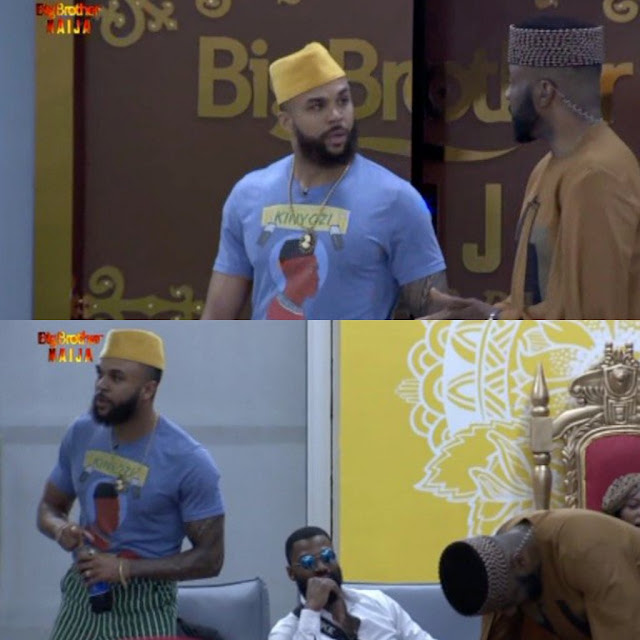 #BBNaija 2019: Jidenna thrills Tacha, Seyi, other housemates as he pays surprise visit to the house (video)