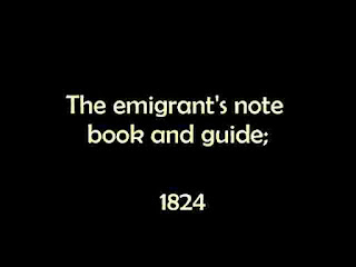 The emigrant's notebook and guide