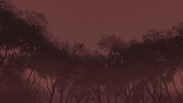 Art - Trees in Red Dawn - Michele Pridgeon
