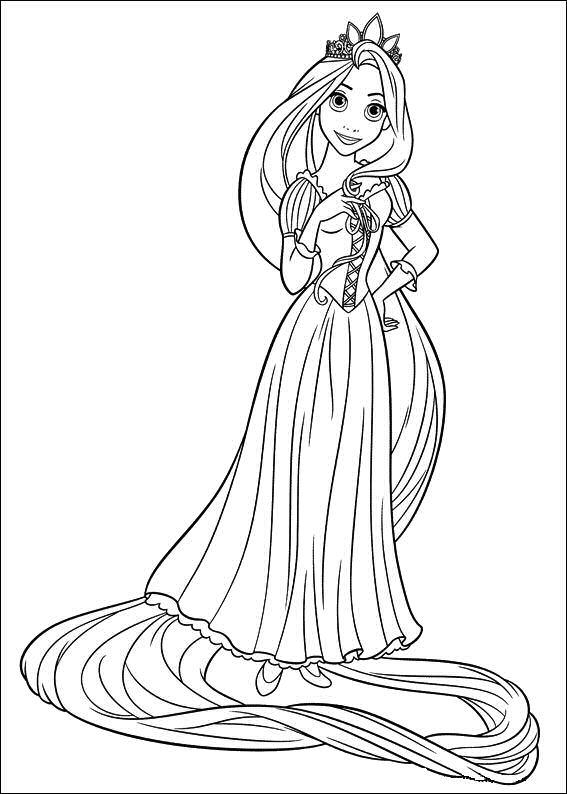Para Colorear Colorear A Rapunzel