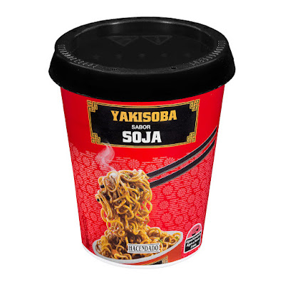 Fideos orientales Yakisoba sabor soja Hacendado