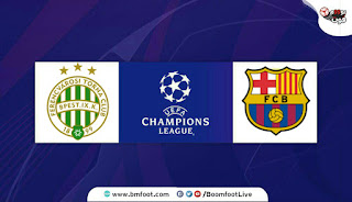 مشاهدة مباراة برشلونة و فرينكفاروزي بث مباشر