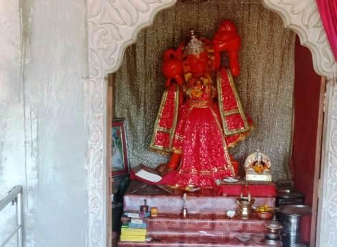 मोरीजा के संकट मोचन हनुमान मंदिर में हुई चोरी
