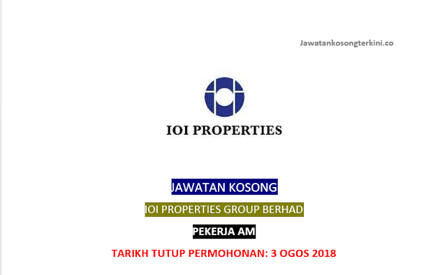 Jawatan Kosong IOI Properties Group Berhad