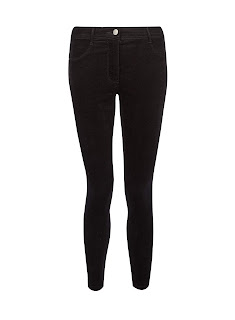 Dorothy Perkins Petite Black Corduroy Frankie Jeans