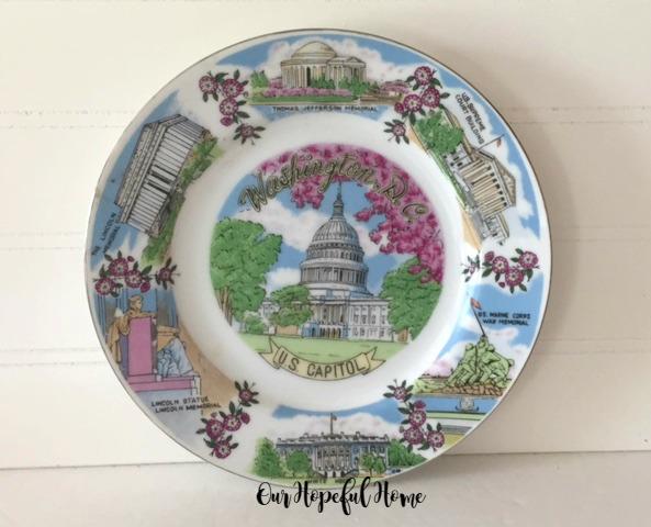 Washington, D.C. souvenir plate