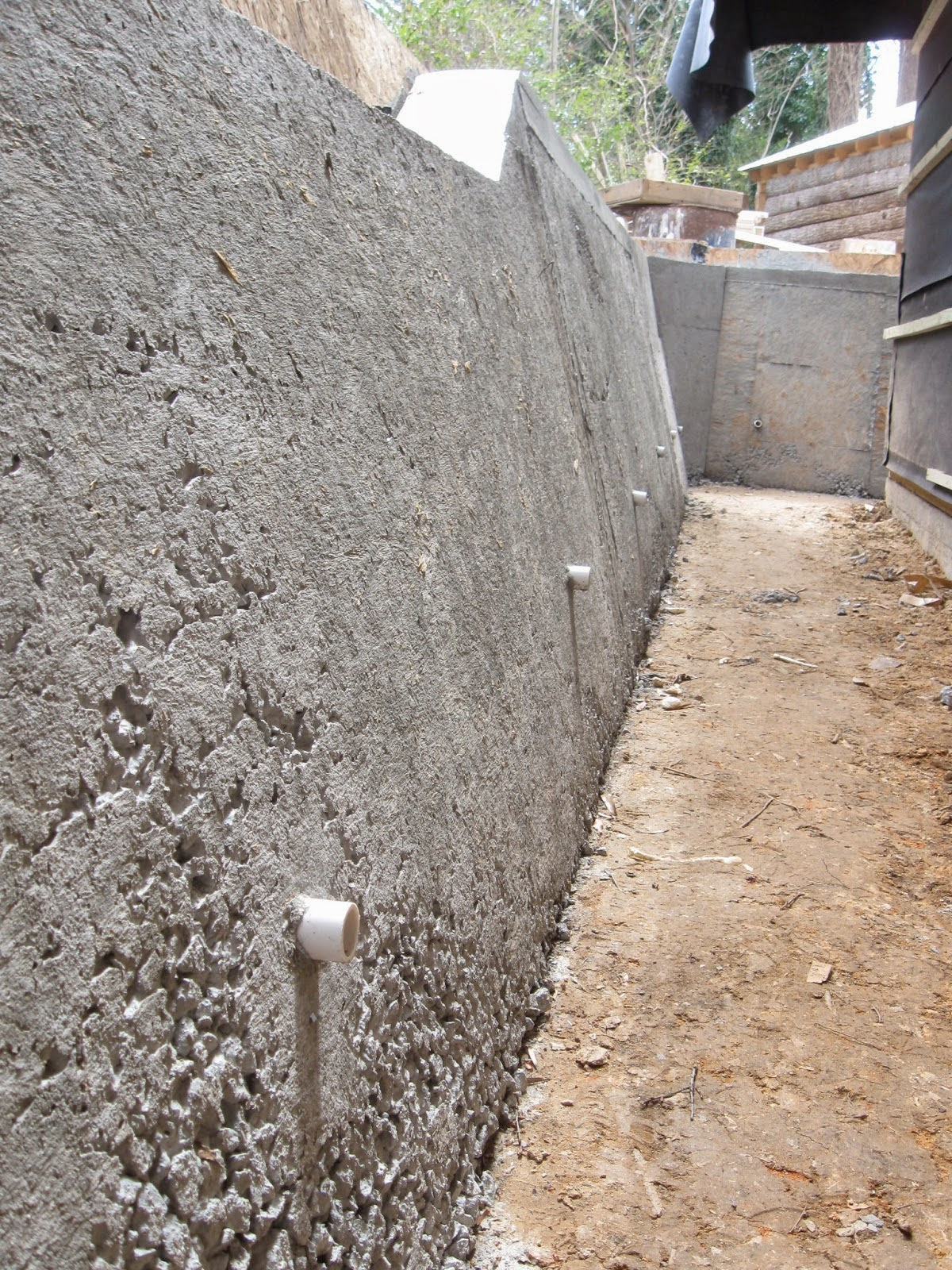 Reinforce The Front Of Wall This Can Be Done By Forming Or Pneumatically Placing Concrete To Thicken Base And Tapering A Height Where Added