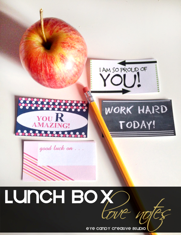 inspirational sayings, lunch box notes, good luck, work hard, kids notes