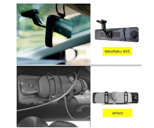 NikoMaku 2K 10 Inches Screen Mirror Dash Cam for Cars