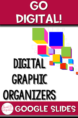 Pinterest image for digital graphic organizers