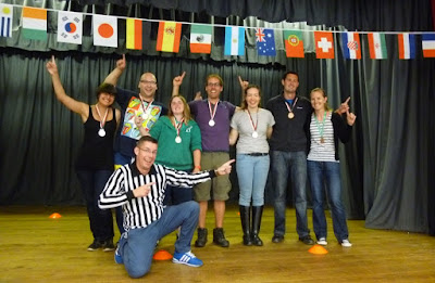 The medalists from the 2014 Finger Jousting World Championships