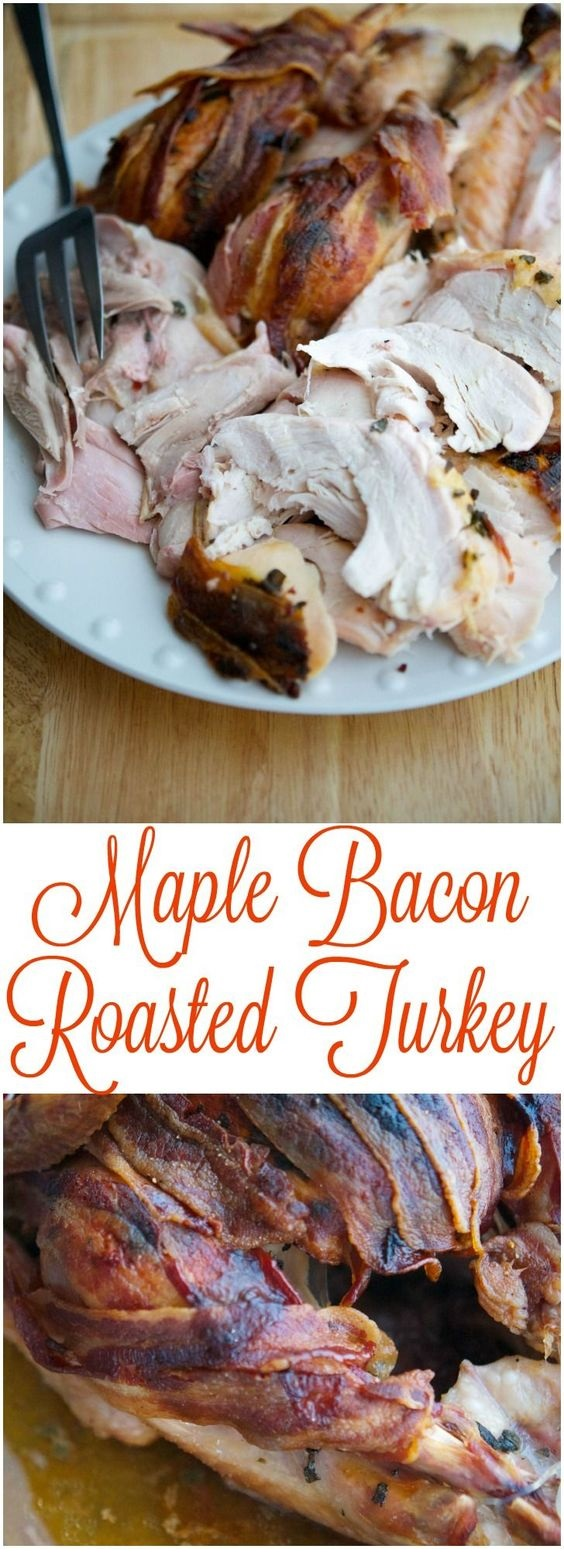 Maple Bacon Roasted Thanksgiving Turkey