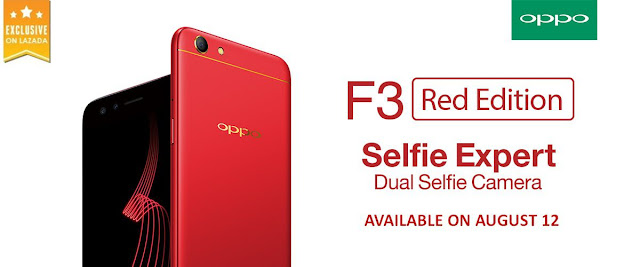 Good news for Oppo fans!! The Oppo F3 in Red color is coming to PH this August 12.