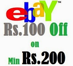Rs.100 off on 200 for New Customers @ eBay (Valid till 11th March'15)