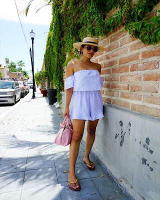 Vestido de dos piezas blanco de verano