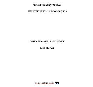 proposal pkl, pengajuan proposal pkl, praktek kerja lapangan