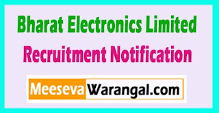 BEL Bharat Electronics Limited Recruitment Notification 2017