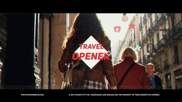 Travel Vlog Opener | After Effects Project Files | Videohive