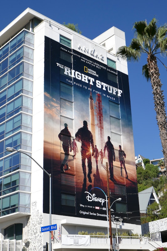 Right Stuff giant TV series billboard