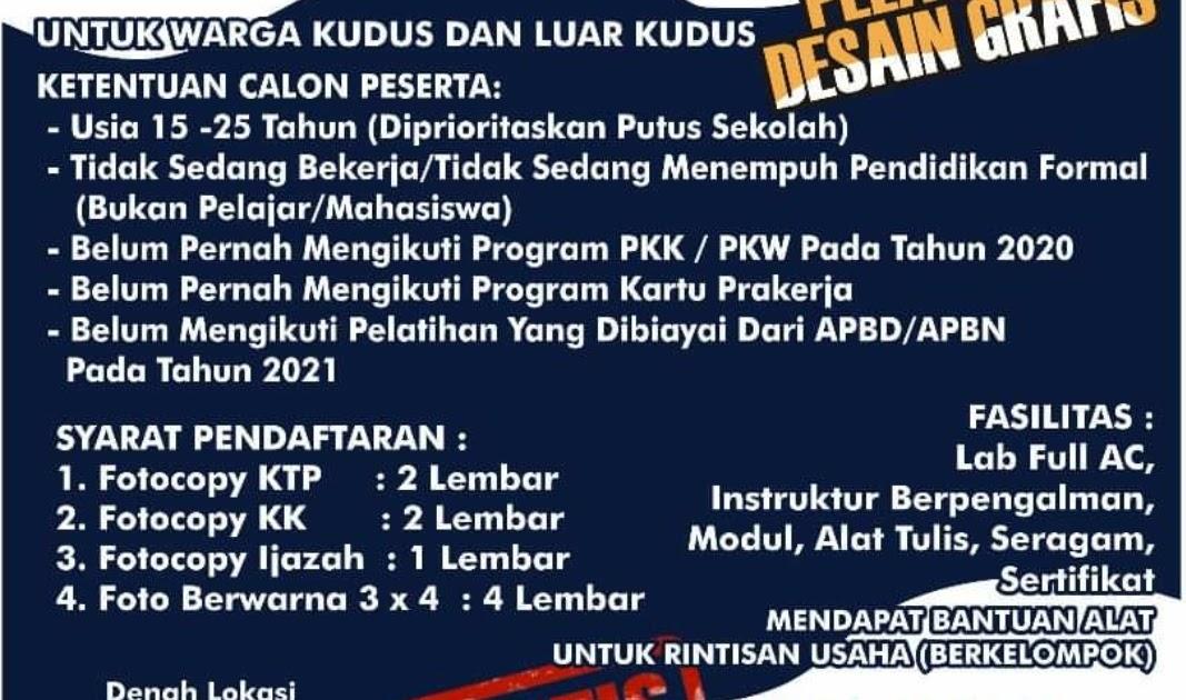 Dibuka Pendaftaran Pelatihan Desain Grafis - Lowongan ...