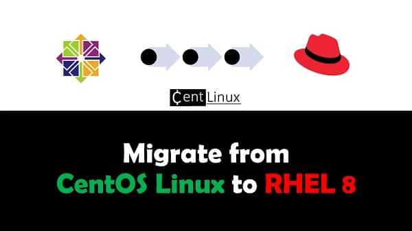 Migrate CentOS Linux to RHEL 8 Operating System