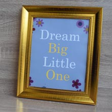 Dream Big Wall Art, Frame for Children's Room, Port Harcourt Nigeria