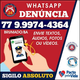 Whatsapp Denúncia 34ª CIPM