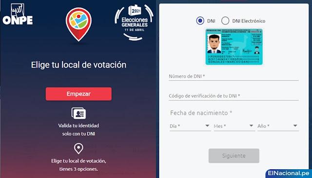 LINK para elegir tu local de votación para las elecciones 2021 - www.eligetulocal.pe