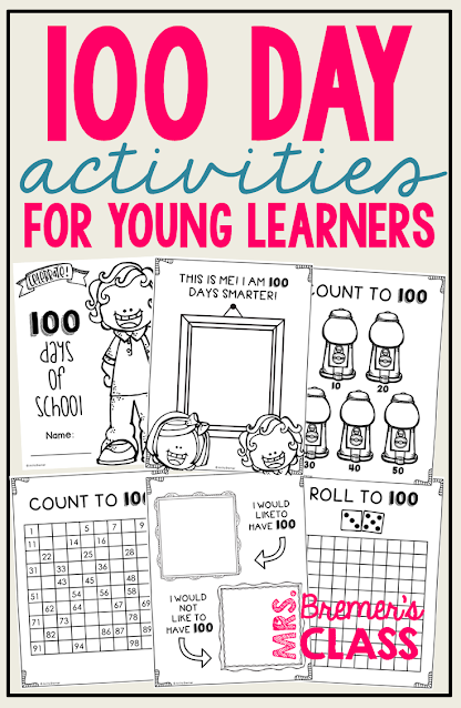 Fun 100 Day Activities for Kindergarten and First Grade! #100day #kindergarten #firstgrade