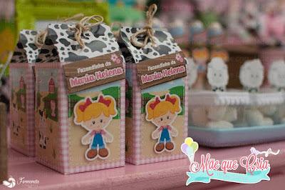 caixa milk fazendinha rosa