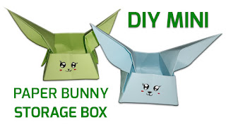 DIY MINI PAPER BUNNY STORAGE BOX