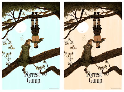 Forrest Gump Movie Poster Screen Print by Marc Aspinall x PopCultArt