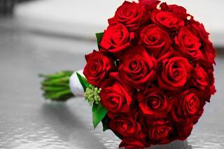 بوكيه ورد , صور بوكيه ورد احمر رومانسي , بوكيهات ورود