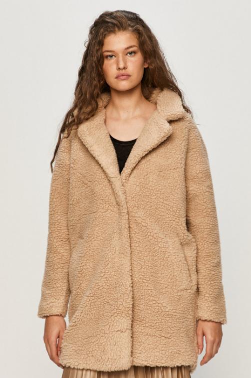 Palton de fete model nou cu blanita nude de iarna