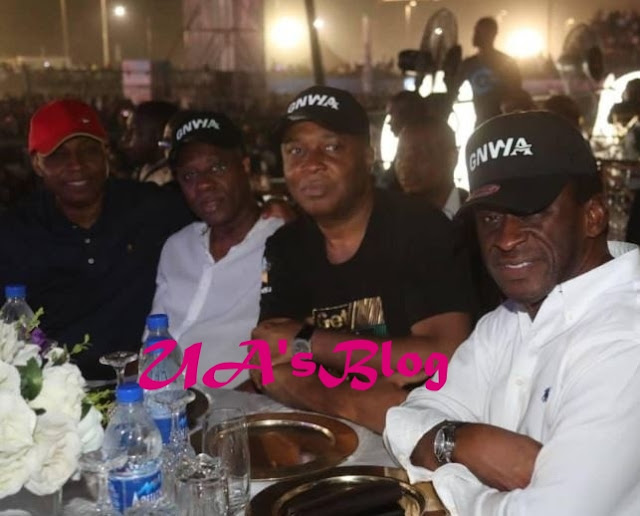 Senate President, Bukola Saraki spotted at Davido's concert in Lagos (Photos)