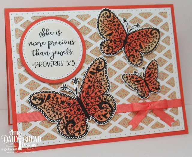 ODBD The Greatest Gift Stamp/Die Duo, ODBD Custom Lattice Background Die, ODBD Custom Pierced Circles Dies, ODBD Custom Circles Dies, Card Designer Angie Crockett