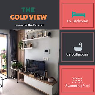 bán căn hộ 2 phòng ngủ the gold view block b