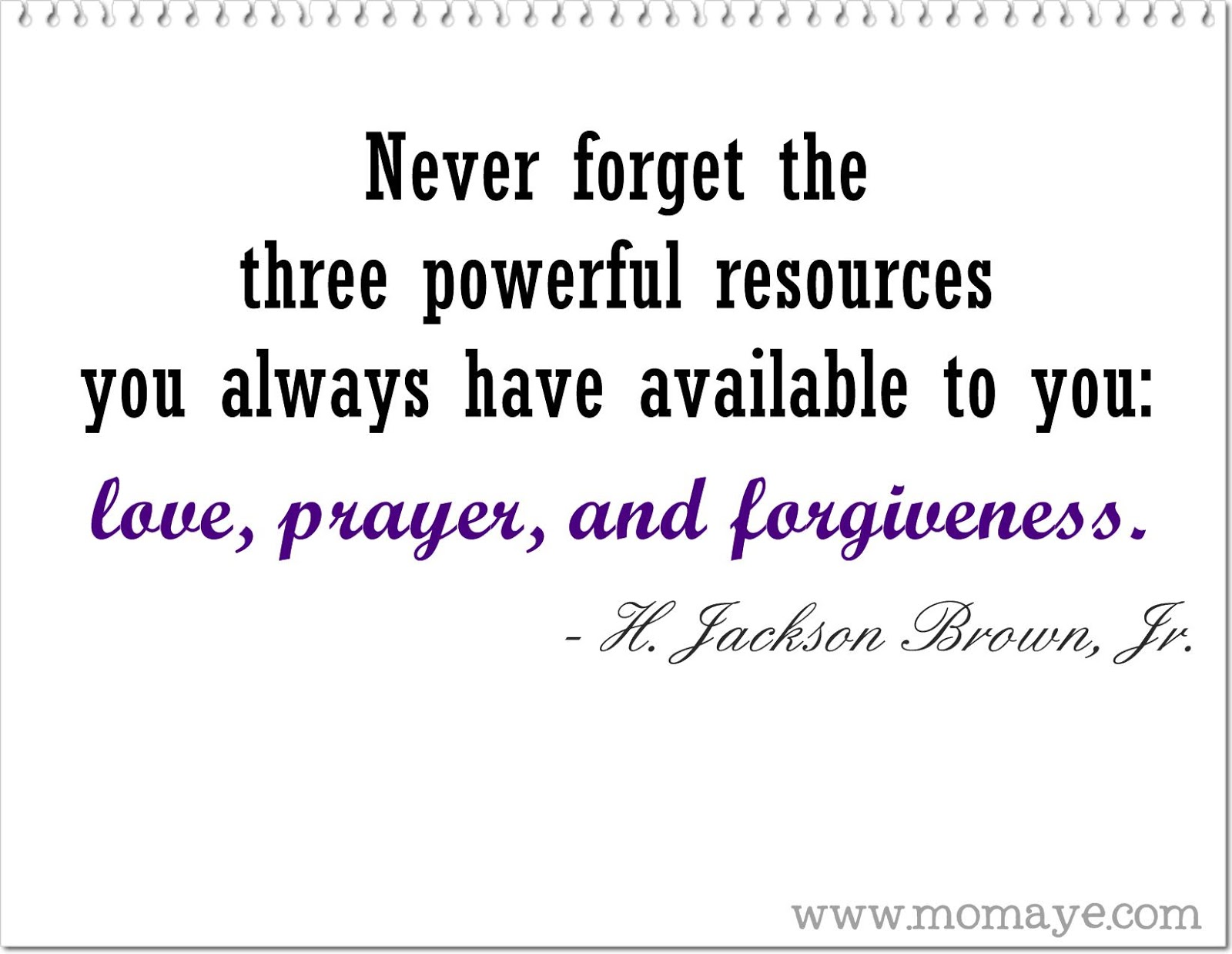 Daily Inspiration: Love, Prayer And Forgiveness