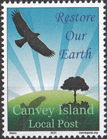 Canvey Island Local Post Earth Day stamp 2021