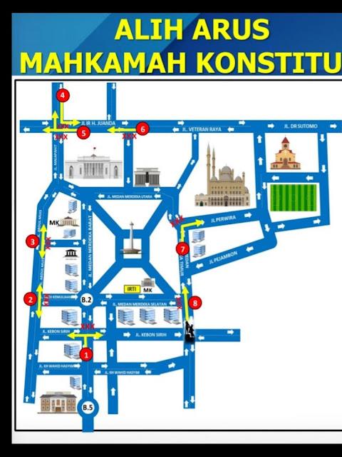 Rekayasa Lalu Lintas Disekitar Gedung Mahkamah Konstitusi Selama Persidangan Sengketa Pemilu