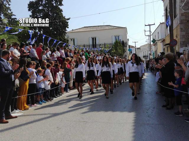 Οι μαθητές στο Κρανίδι Αργολίδας τίμησαν την επέτειο της 28ης Οκτωβρίου