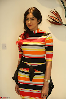 Adha Sharma in a Cute Colorful Jumpsuit Styled By Manasi Aggarwal Promoting movie Commando 2 (91).JPG