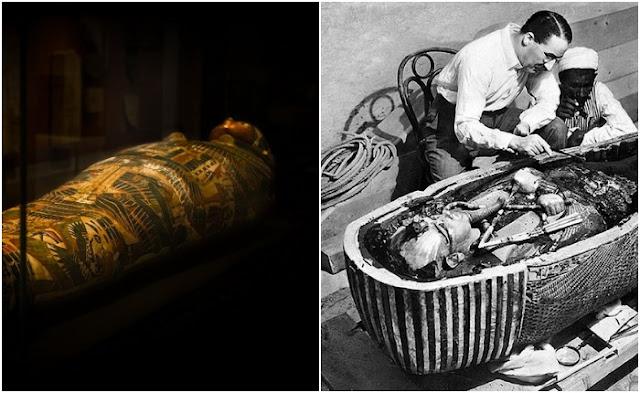 sarcófagos antigos no Egito