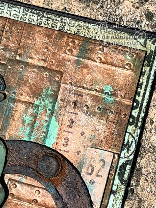 Sara Emily Barker https://sarascloset1.blogspot.com/2020/05/slightly-distracted-and-corroded.html Tim Holtz Masculine Mixed Media Card 6