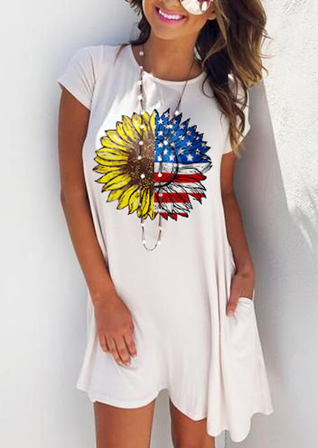 Sunflower and American Flag Dresses