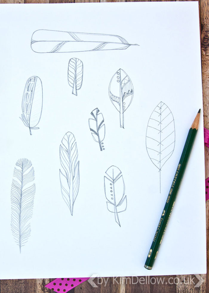 Dellow Daily Drawing Exercise - Feathers